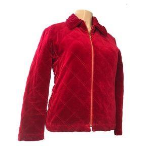 Yves Saint Laurent Jackets & Coats - Yves Saint Laurent encore Red Velvet Jacket